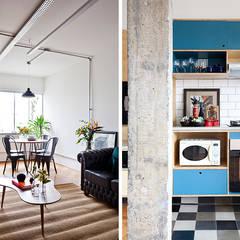 Apartamento do Paulo: Salas de estar  por INÁ Arquitetura