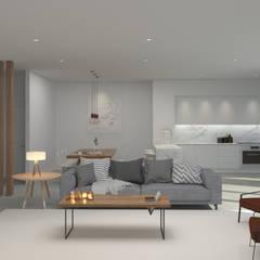 ห้องนั่งเล่น by Lagom studio