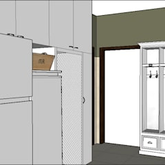 PROYECTO - Lavadero y Entrada de Servicio: Pasillos y recibidores de estilo  por PLATZ,Clásico Madera Acabado en madera
