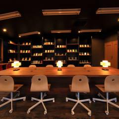 図書室3: 猪股浩介建築設計 Kosuke InomataARHITECTUREが手掛けた書斎です。