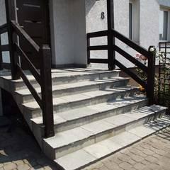 Kamień na schody i tarasy.: styl , w kategorii Taras zaprojektowany przez Kamienie Naturalne Chrobak
