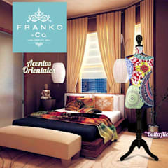 Ambientes Franko & Co.: Recámaras de estilo  por Franko & Co., Asiático