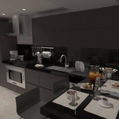 Remodelación Penthouse: Cocinas de estilo  por Vowen, Minimalista Madera Acabado en madera