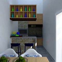 โรงรถและหลังคากันแดด โดย Nádia Catarino - Arquitetura e Design de Interiores, ชนบทฝรั่ง ไม้ Wood effect