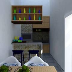 Garage/shed by Nádia Catarino - Arquitetura e Design de Interiores, Rustic Wood Wood effect