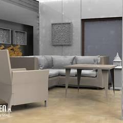 Projekt tarasu: styl , w kategorii Biurowce zaprojektowany przez Lunatic Garden