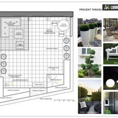 Projekt tarasu : styl , w kategorii Biurowce zaprojektowany przez Lunatic Garden