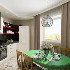 Двухкомнатная квартира в Москве: Кухни в . Автор – EEDS design