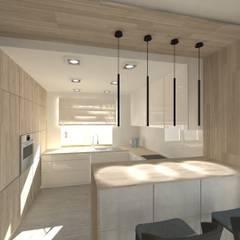 Wnętrze domu jednorodzinnego Nowoczesna kuchnia od Gil Architekci Nowoczesny