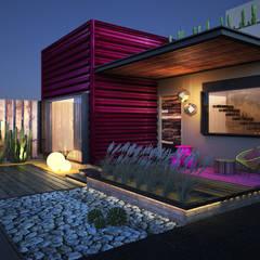 Casa R08: Casas de estilo  por Rotoarquitectura