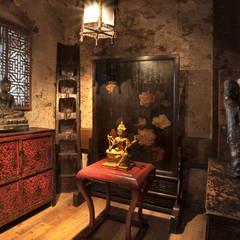 Camera della sposa: Soggiorno in stile in stile Asiatico di Thais s.r.l