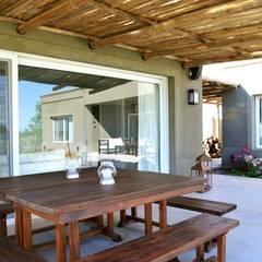 Casa en Pilará Jardines de invierno modernos de Aulet & Yaregui Arquitectos Moderno