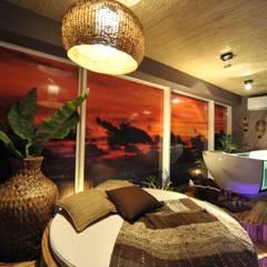 Lounge da Oceania Espaços comerciais asiáticos por Pinheiro Machado Arquitetura Asiático