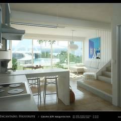 RESIDENCIAS COSTA BLANCA: Pasillos y vestíbulos de estilo  por Grupo JOV Arquitectos