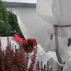 zima na loggi: styl , w kategorii Taras zaprojektowany przez ARCHITEKTONIA Studio Architektury Krajobrazu Agnieszka Szamocka -Niemas