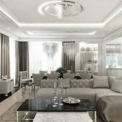 CONTEMPORARY CLASSIC - Projekt wnętrza rezydencji.: styl , w kategorii Salon zaprojektowany przez ArtCore Design