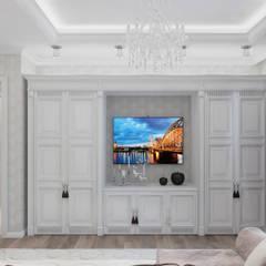 Интерьер квартиры 48 кв.м. в ЖК Новая Династия: Гостиная в . Автор – Студия дизайна интерьера Маши Марченко