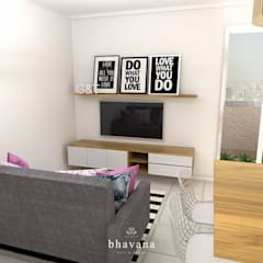 Living room by Bhavana, Scandinavian