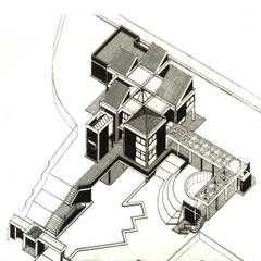 Axonometria del proyecto.: Casas de estilo  por OMAR SEIJAS, ARQUITECTO