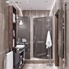 Ванная комната в стиле минимализм: Ванные комнаты в . Автор – Студия дизайна Interior Design IDEAS