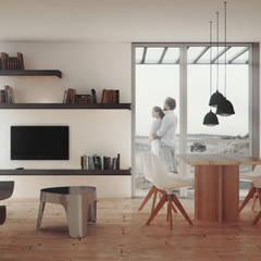 Viviendas Prefabricadas: Livings de estilo minimalista por BS ARQ