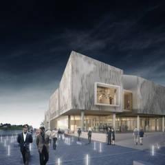 Guggenheim Helsinki Competition: Casas de estilo  por BS ARQ
