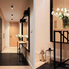 Corridor, hallway by Kołodziej & Szmyt Projektowanie wnętrz