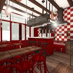 Restaurant Italien: Salle à manger de style de style Méditerranéen par réHome