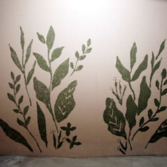 유니스의정원(이풀실내정원) 인테리어벽화: 몰핀아트의  복도 & 현관,인더스트리얼