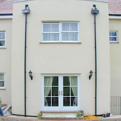 Traditional sash windows and French doors :  Windows  by Marvin Architectural