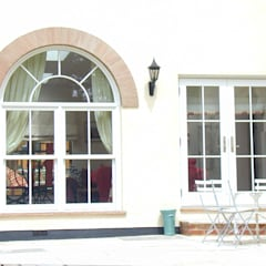 Feature windows tall sash windows with half circle round tops :  Windows  by Marvin Architectural