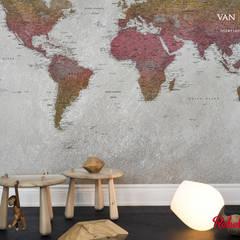 Paredes de estilo  por vanHenry interiors & colours