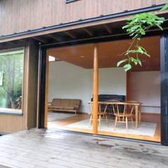 ระเบียง, นอกชาน โดย 早田雄次郎建築設計事務所/Yujiro Hayata Architect & Associates, ผสมผสาน