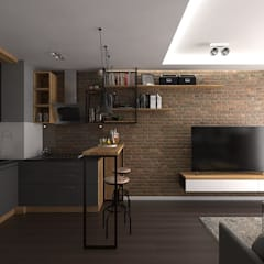 industrial Living room by malee