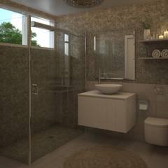 Baño Moderno: Baños de estilo  por Gabriela Afonso, Moderno Azulejos