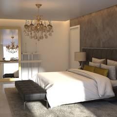 Diseño de Habitación Principal: Cuartos de estilo  por Gabriela Afonso,