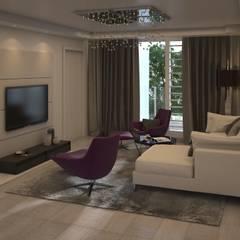 Diseño de Sala Moderna: Salas de entretenimiento de estilo  por Gabriela Afonso