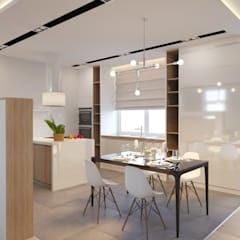 Таунхаус в Подмосковье: Кухни в . Автор – Студия авторского дизайна ASHE Home