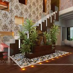 modern Living room by 3D Power Visualization Pvt. Ltd.
