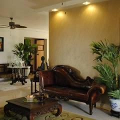 Salon de style  par Construction Associates, Moderne