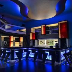 Restaurante & Lounge SANTRU: Restaurantes de estilo  por GMS ARQUITECTOS, C.A.