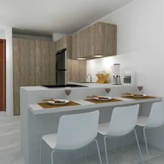 COCINA PEQUEÑA: Cocinas de estilo  por ARCE FLORIDA,