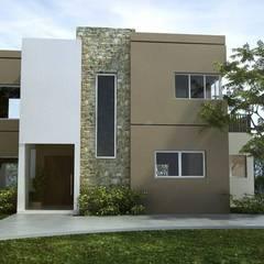 Casas construidas en Pilar: Casas de estilo moderno por SolucionesDeArquitectura