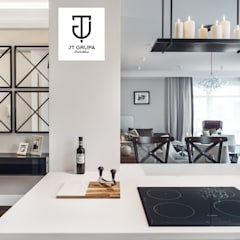 Gdańsk - Apartament nad zatoką: styl , w kategorii Kuchnia zaprojektowany przez JT GRUPA,