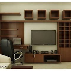 flat Interior Designs Modern living room by 100Krafts Modern