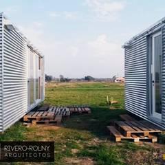 Terrasse de style  par riverorolnyarquitectos, Industriel