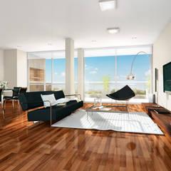 Salon de style  par Mauricio Morra Arquitectos, Moderne