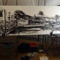 Neue Heimat - Urban Sketch: Centre d'expositions de style  par Laeti-Berlin