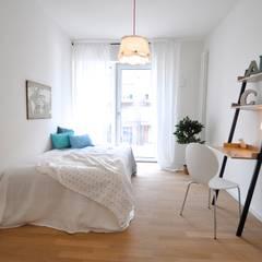 Home Staging einer Mietwohnung direkt an der Weser: landhausstil Arbeitszimmer von Karin Armbrust - Home Staging