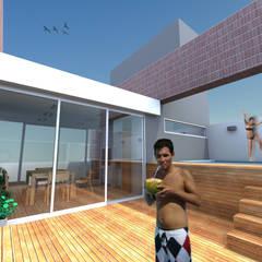 Vivienda colectiva: Spa de estilo  por VHA Arquitectura